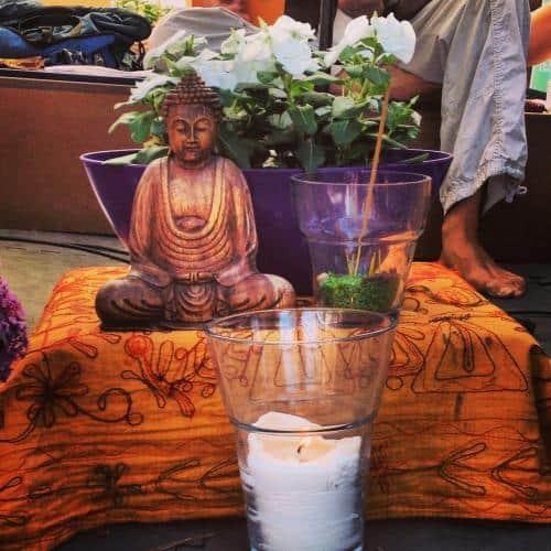 Meditation är målet med yoga. Barcelona yoga conference. Foto: Wari Om Yoga Photography.