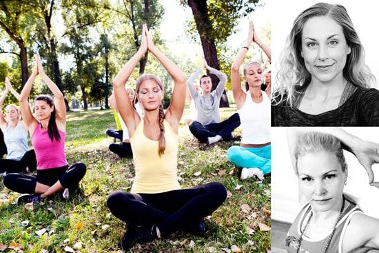 Yoga på Kulturkalaset med yogalärarna Milla och Johanna.