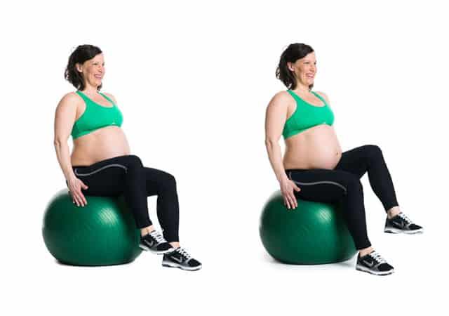 Övningar för gravida ur boken Stark, glad , gravid
