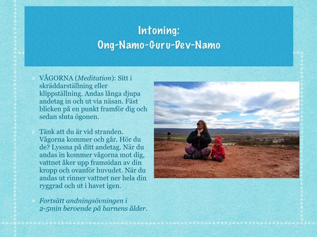 Yoga för barn, en yogasaga del 1
