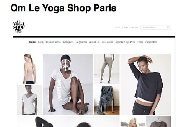 Yogakläder hos Le Yoga Shop Paris