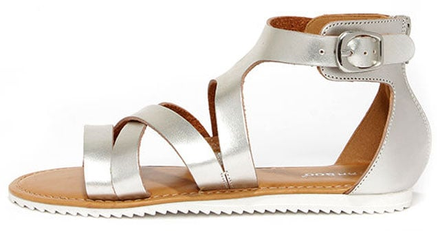 Saw You There Silver Sandals, $23 på lulus.com