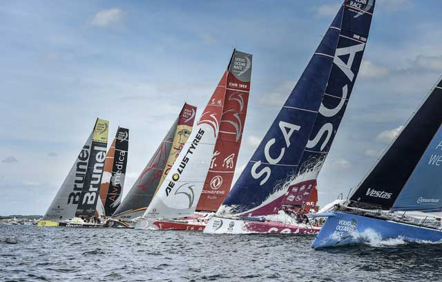 Yoga under Volvo Ocean Race