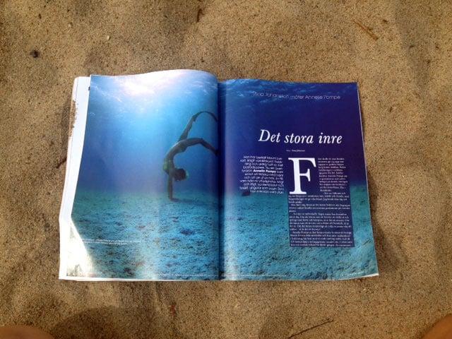Annelie Pompe i tidningen Yoga för dig