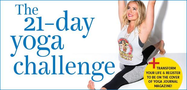 Yoga Journals 21-dagars utmaning och tävling om omslagsbild