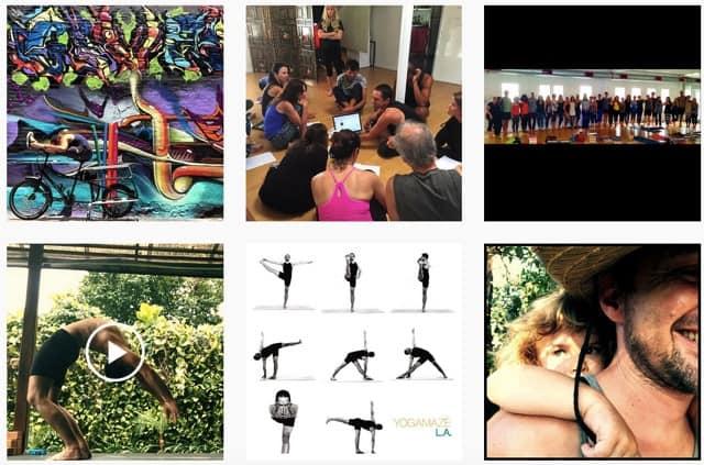Yogaläraren Noah Maze på Instagram