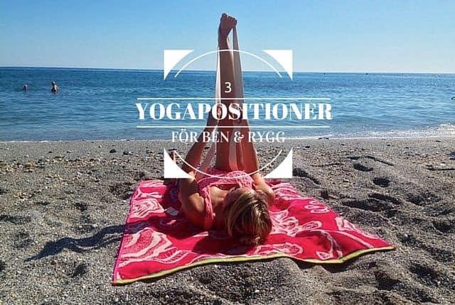 Yogapositioner för ben och rygg