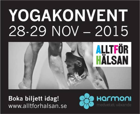 Vinn biljetter till Yogakonventet i samband med Allt för hälsan mässan
