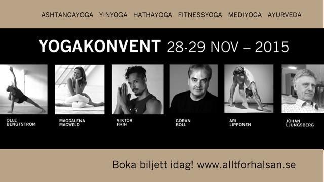 Yogakonvent i Stockholm i anslutning till Allt för hälsan mässan