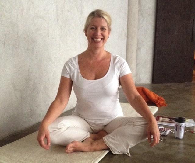 Yogaläraren Jenny Andersson