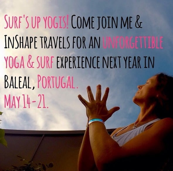 I Maj håller Mariell en yogaresa till Portugal