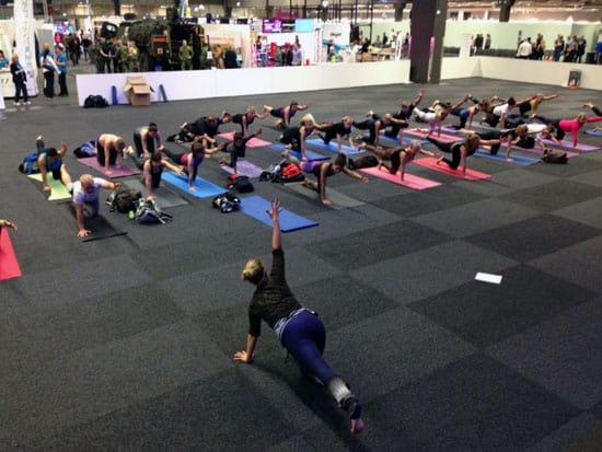 Yoga på Fitnessfestivalen i Göteborg