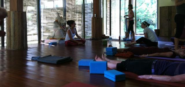Yogastudio på Bali