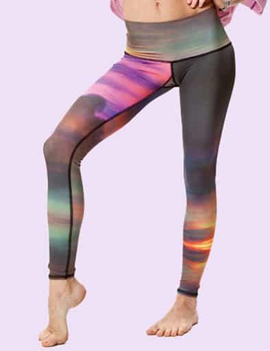 Mönstrade yogatights från Tekki