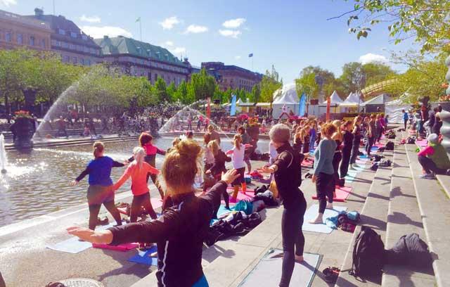 Yogobe anordnade stort yogaevent i Stockholm i helgen