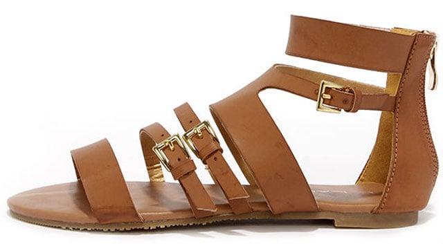 Cypress Cognac Gladiator Sandals, $36 på lulus.com