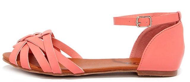 Teamwork Coral Flat Ankle Strap Sandals, $19 på lulus.com