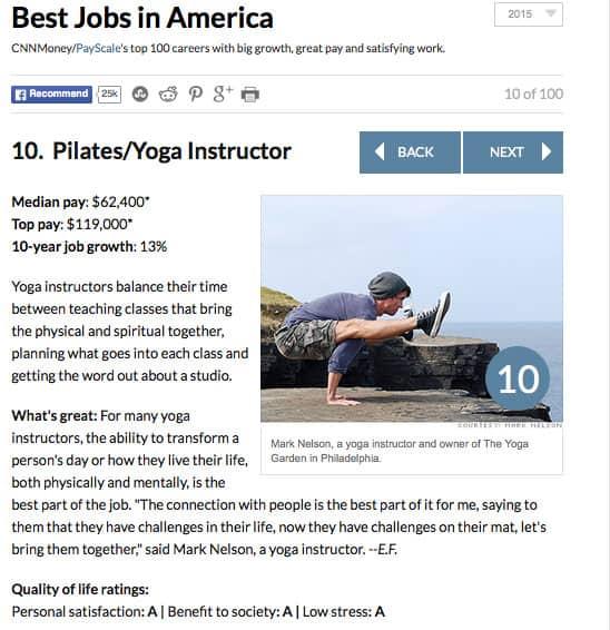 Vad tjänar en yogalärare?