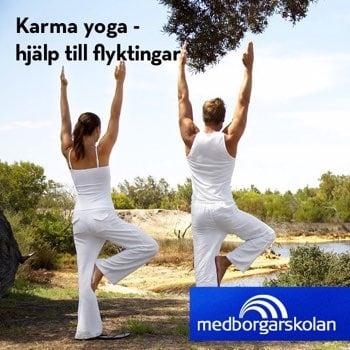 Yoga för välgörenhet i Malmö